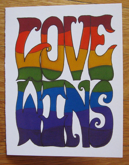 greeting card ~ love wins
