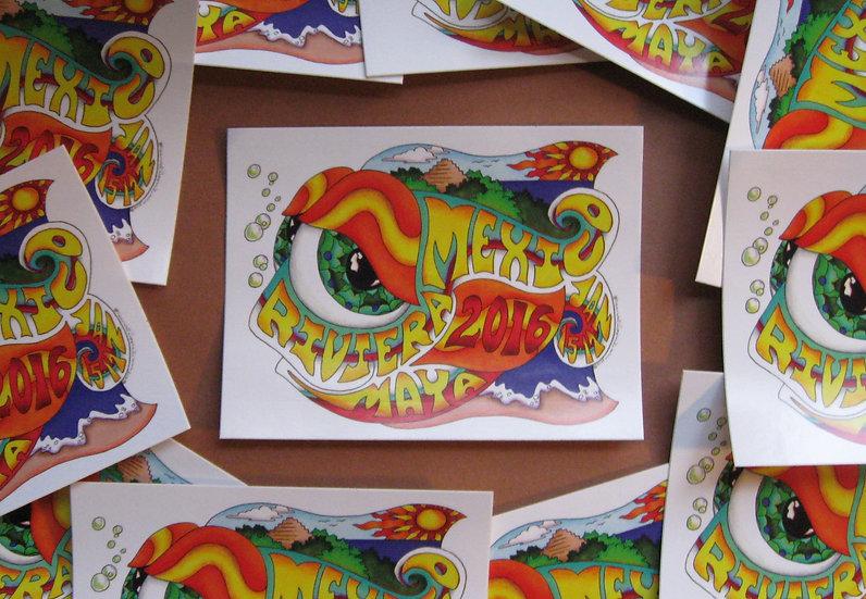 2016 mexico happy fish sticker
