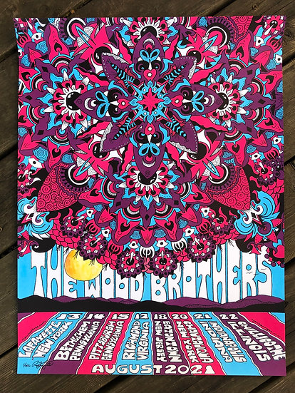 THE WOOD BROTHERS silkscreened poster