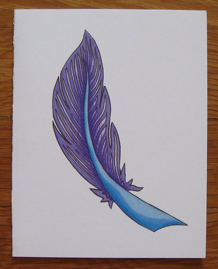 greeting card ~ feather