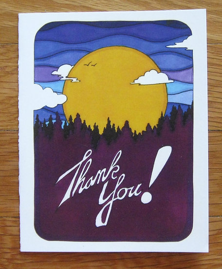 greeting card ~ thank you moonrise