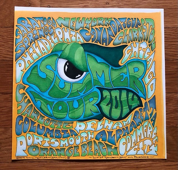 ORIGINAL ART: summer tour 2014 sticker
