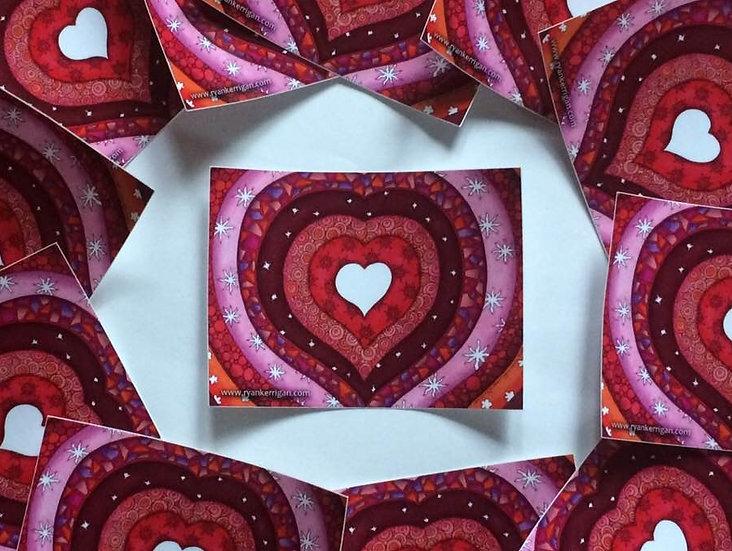 heart rings sticker