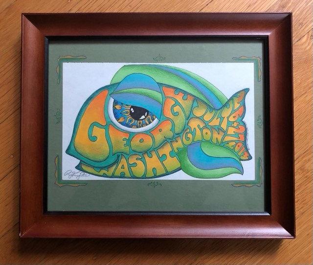 ORIGINAL ART: gorge happy fish (2013)