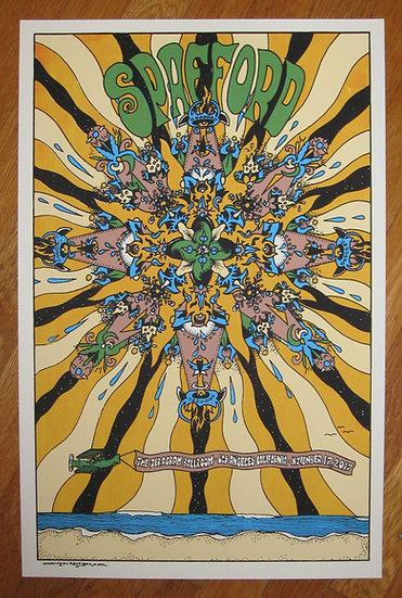spafford ~ los angeles november 17, 2017 silkscreened poster