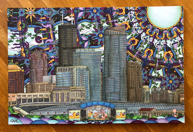 CHICAGO NORTHERLY ISLAND canvas print