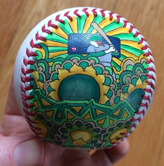 2018 hand painted baseball #10