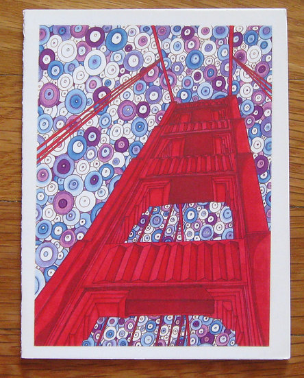 greeting card ~ golden gate bridge