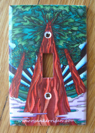 three redwoods light switch cover