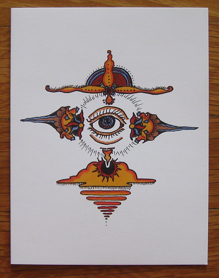 greeting card ~ mandala eye