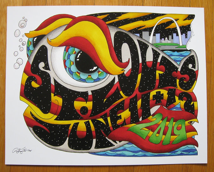 2019 st.louis happy fish poster