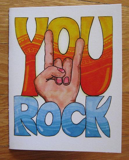 greeting card ~ you rock