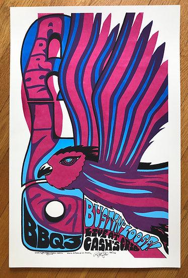 ALO BBQ3 april 17, 2021 silkscreened poster