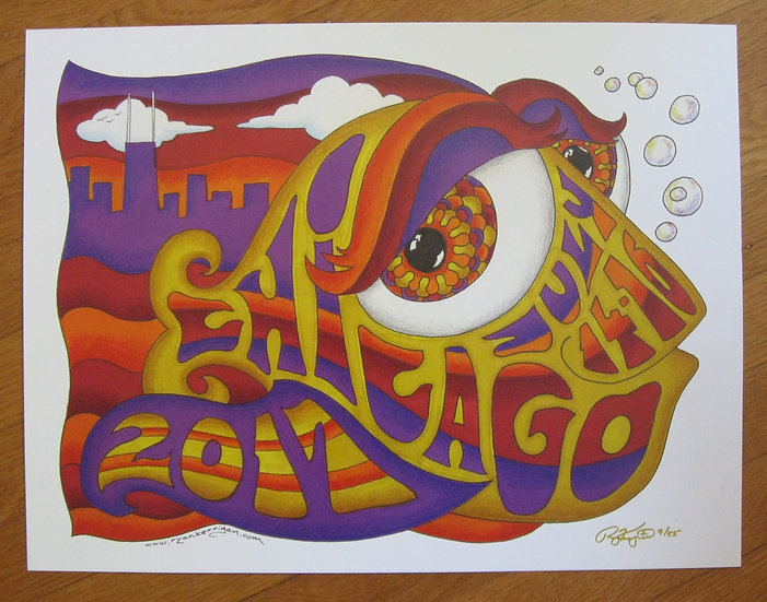 2017 chicago happy fish poster