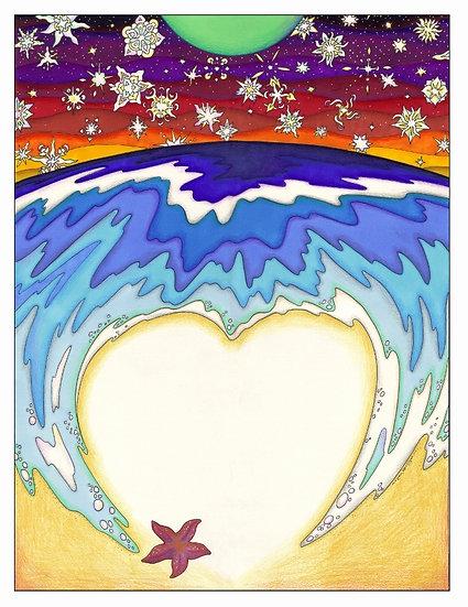 STARFISH BEACH canvas print