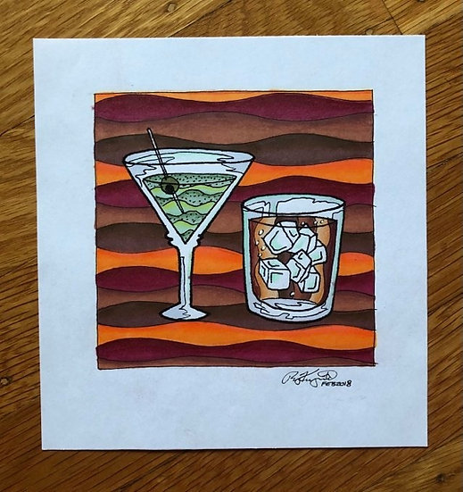 ORIGINAL ART: drinks (2018)