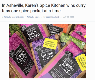 In Asheville, Karen's Spice Kitchen Wins Curry Fans One Spice Packet At A Time.