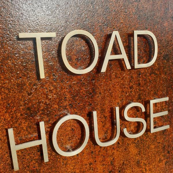 Corten House Sign