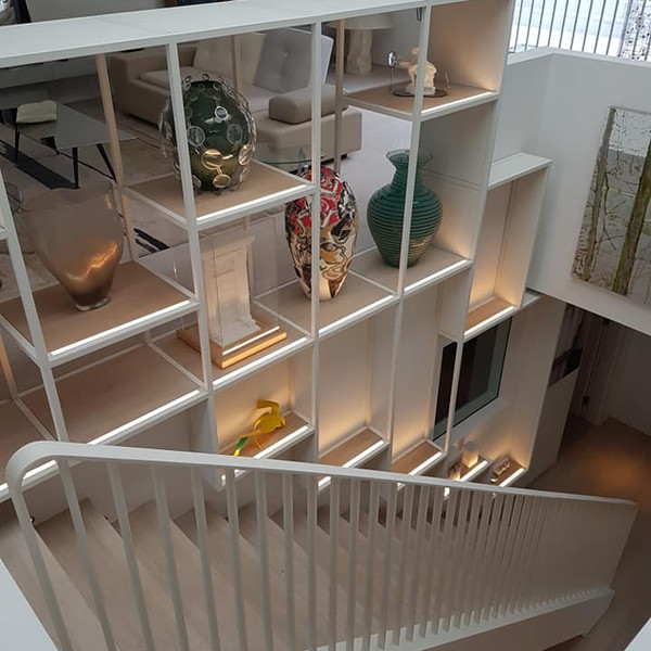 Central London Staircase and Bookshelf