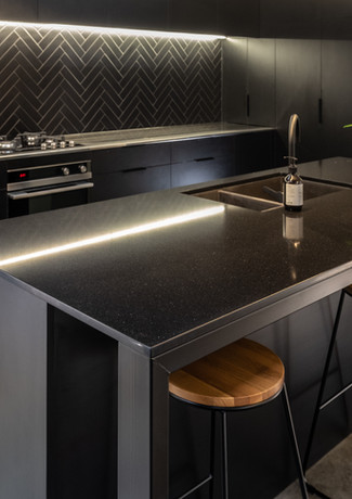 Black on black kitchen New Plymouth