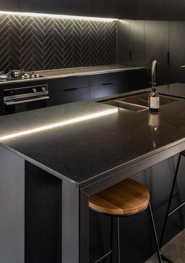 Black on black kitchen New Plymouth