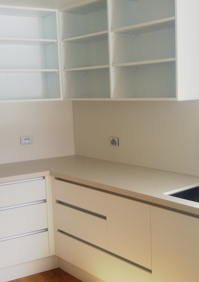 Large open, handleless scullery