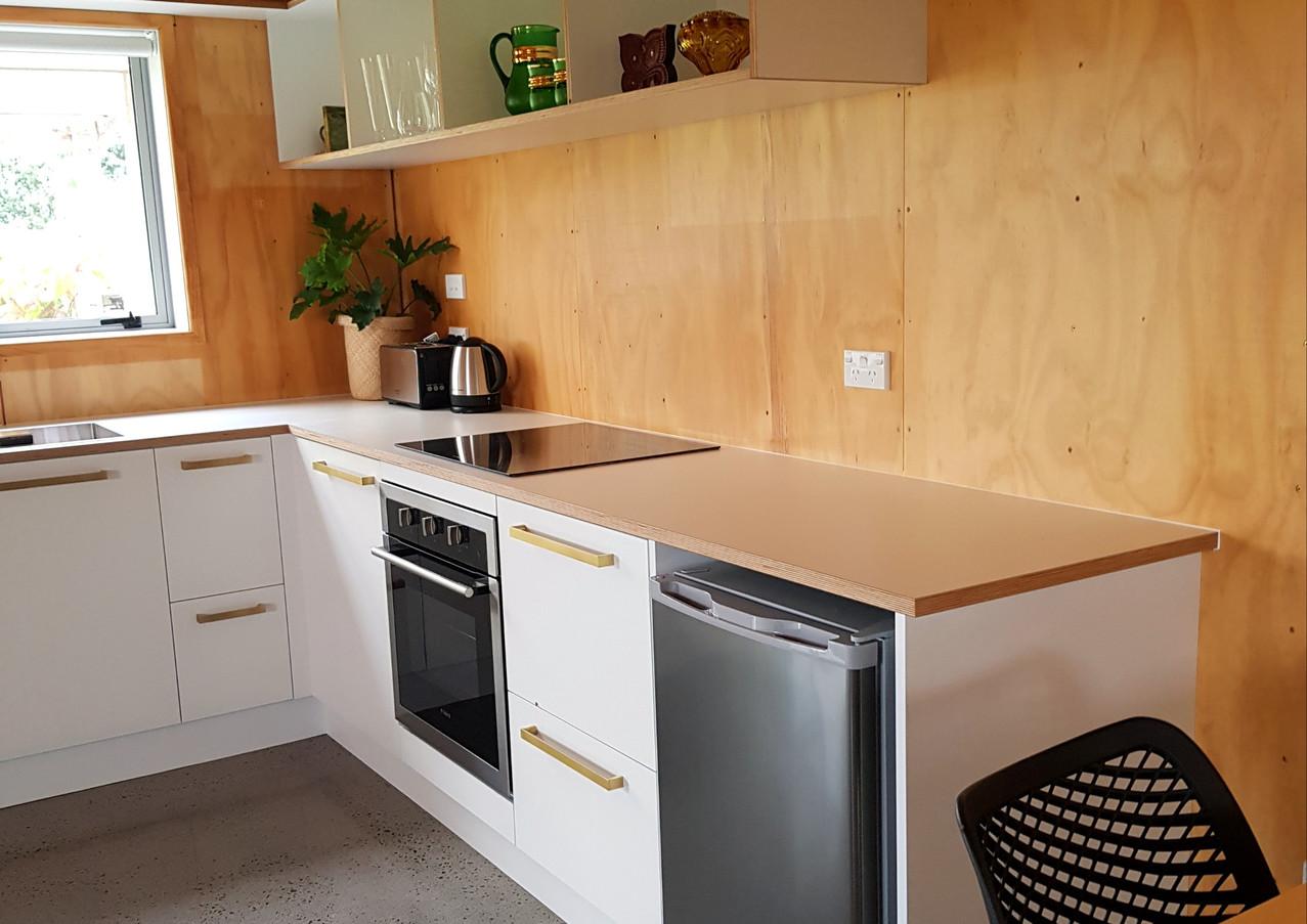Custom designed kitchen area Taranaki