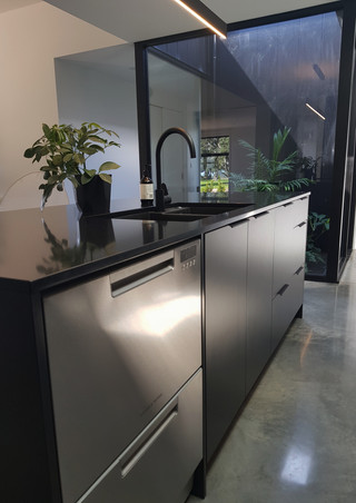 Dish washer in island bench