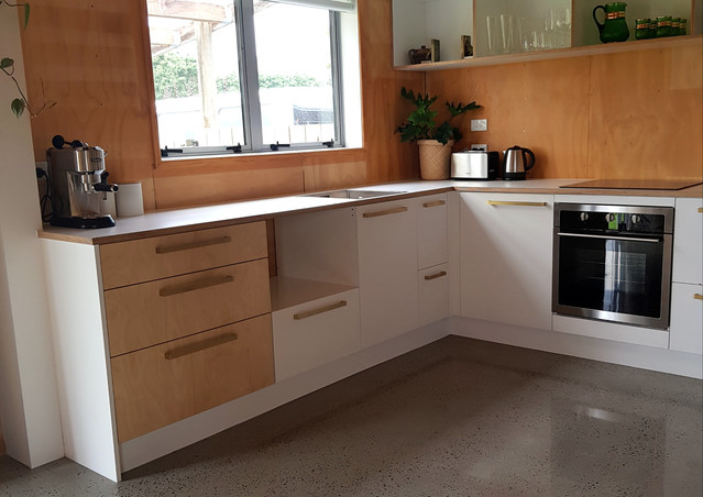 HPV Birch Ply Kitchen and polished floors