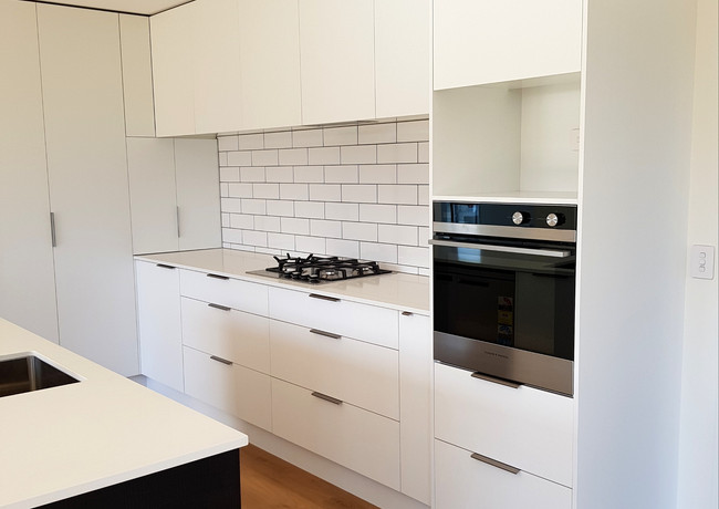 White kitchen design New Plymouth