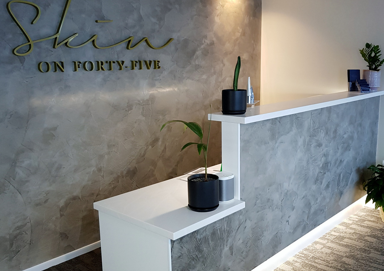 Reception desk built by In House Kitchens