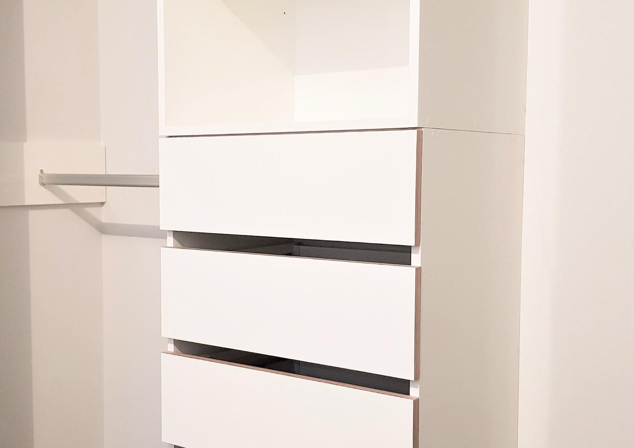 Open wardrobe storage