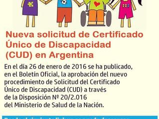 NUEVA SOLICITUD DE CERTIFICADO ÚNICO DE DISCAPACIDAD (CUD) EN ARGENTINA