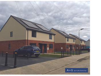 Leicester City Council Housing Project                    First Phase complete