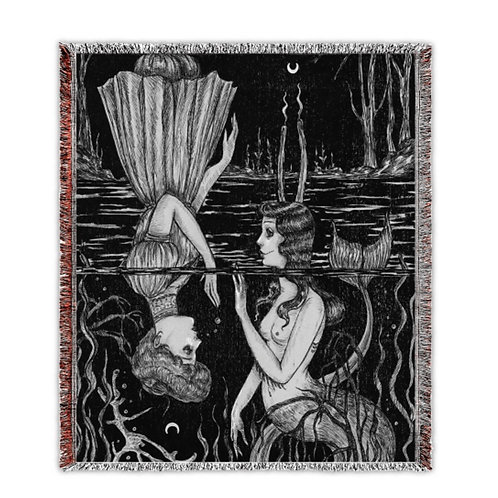 """""""As Above, So Below"""" Woven Tapestry Blanket"""