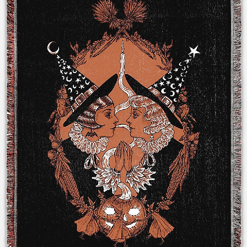 """""""Conjure the Bewitching"""" Woven Tapestry Blanket"""