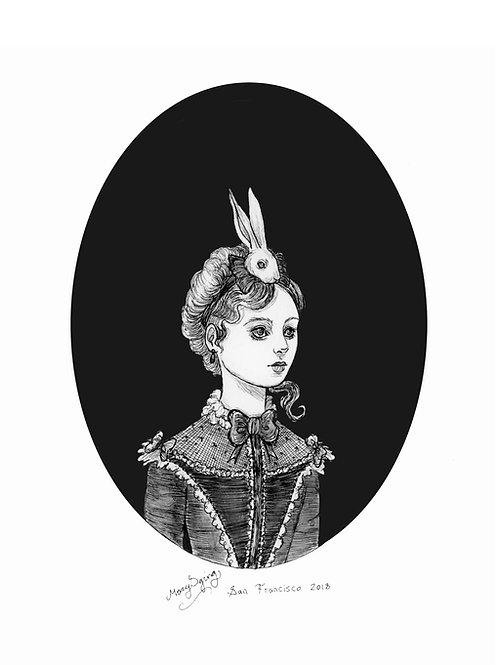 Alice caught the rabbit
