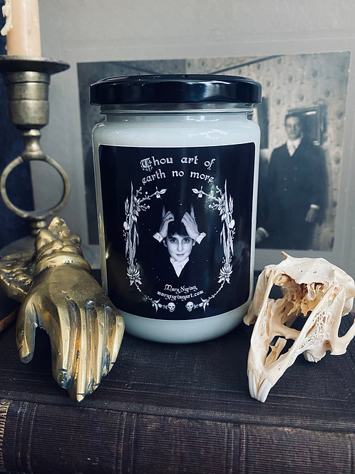 Thou art of earth no more Candle