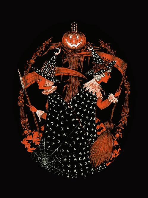 Witches in the bramble print