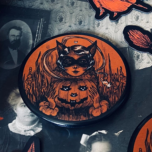Large All Hallows' Eve Button