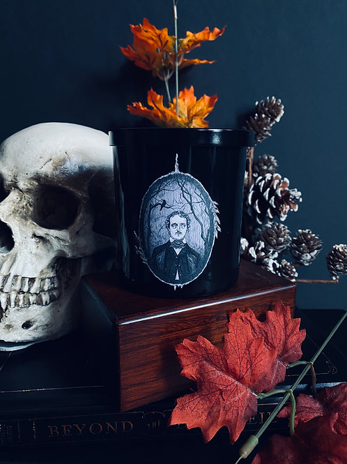 """""""Nevermore"""" Edgar Allan Poe Candle- Collab with Caitlin Mccarthy"""