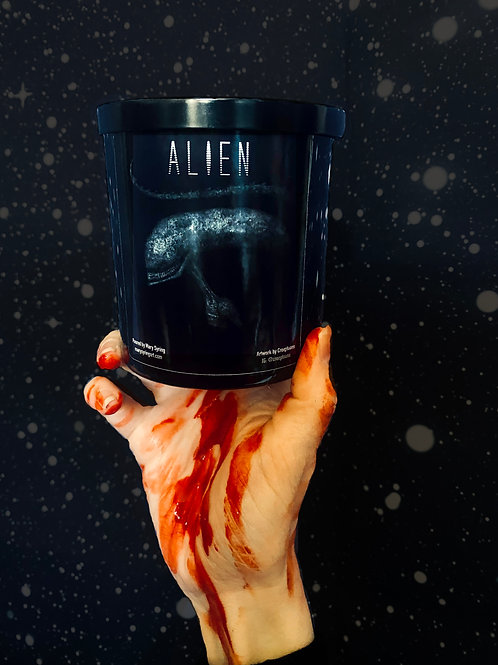 Alien Candle- collab with artist Creeptoons