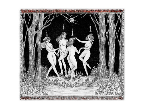 """The Witching Hour"" Woven Tapestry Blanket"