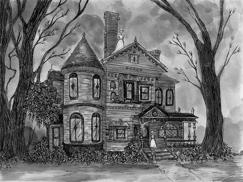 "8x10 ""Haunted House"""