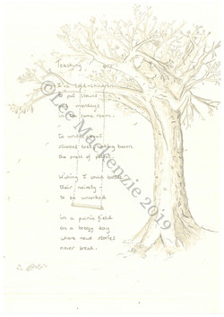 Handwritten and illustrated Poem 2