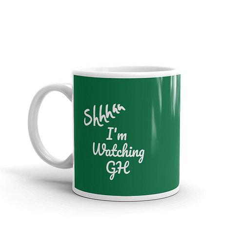 Shh I'm Watching GH Mug -- Green