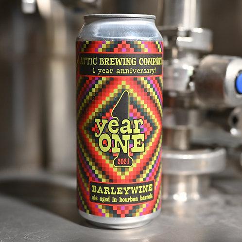 Year One Bourbon Barrel Aged Barleywine 16oz can