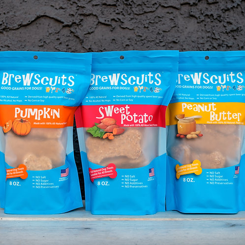 Large Spent Grain Dog Treats 8oz package