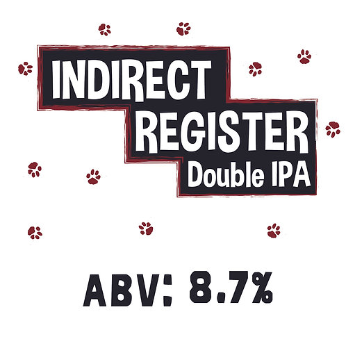 Indirect Register Double IPA Single Can