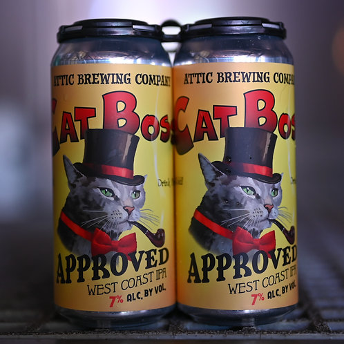Cat Boss Approved West Coast IPA 16oz can 4 PACK